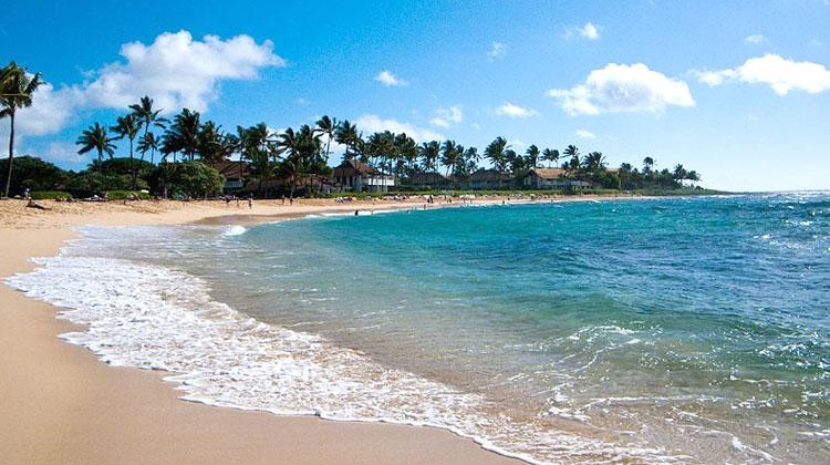 Plages de Puipu Kauai (Hawaï)